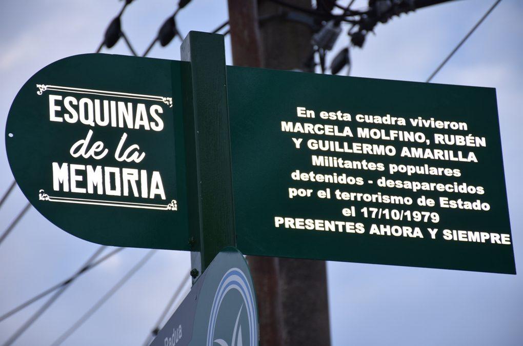 ESQUINAS DE LA MEMORIA: HOMENAJE A MARCELA MOLFINO Y A RUBÉN Y GUILLERMO AMARILLA