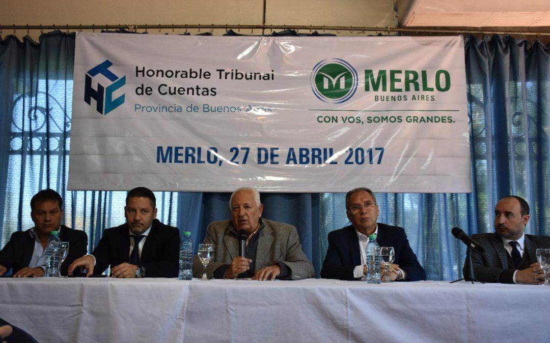 EL TRIBUNAL DE CUENTAS MANTUVO UN ENCUENTRO CON INTENDENTES EN MERLO