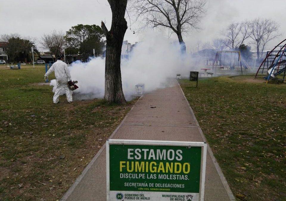 FUMIGACIONES EN LOS BARRIOS DE MERLO
