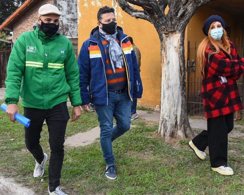 EL INTENDENTE SUPERVISÓ  OBRAS EN PADUA